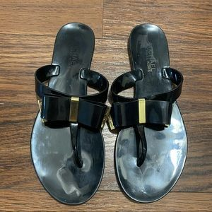 Micheal Kors Bow Jelly Flipflops